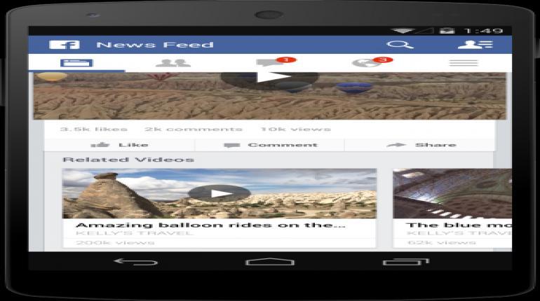 เฟสบุ๊ค (Facebook) ได้พัฒนาระบบเล่นวีดีโออัตโนมัติ (Video Autoplay) บน Facebook Mobile Application